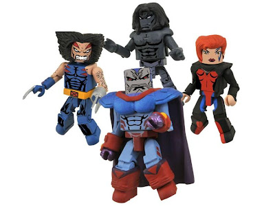 New York Comic-Con 2010 Exclusive Age of Apocalypse Minimates Box Set 2 - Wolverine, Apocalypse, Dark Beast & Jean Grey