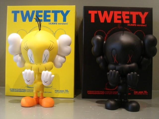 The Blot Says Warner Bros X Kaws Tweety Vinyl Figure