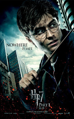 Harry Potter and the Deathly Hallows: Part I Character Movie Posters - Nowhere Is Safe - Daniel Radcliffe as Harry Potter