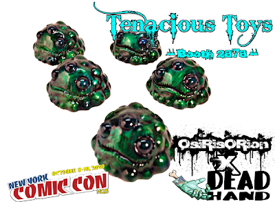 New York Comic-Con 2010 Exclusive OsiRisORion x Dead Hand Toys Custom Sewer Sludge Gread Resin Figures