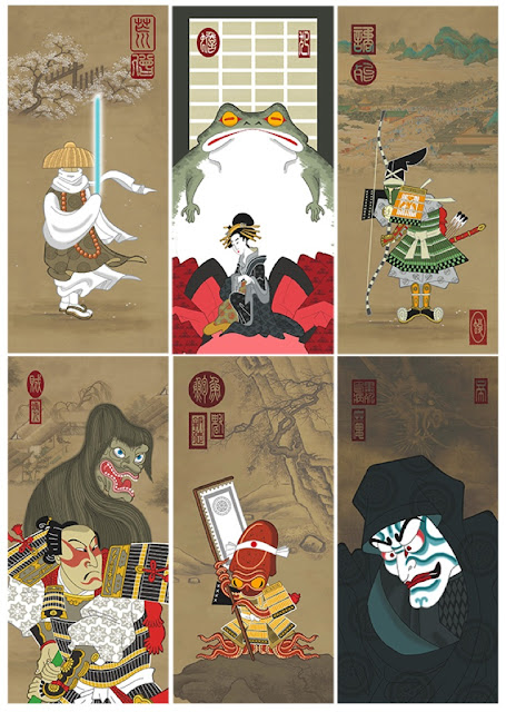 Ninja Star: Wars Art Prints by Steve Bialik