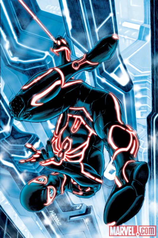 WTF ? - Page 6 Marvel+Comics+-+Amazing+Spider-Man+%23651+TRON+Legacy+Variant+Cover+featuring+Spider-Man+by+Mark+Brooks