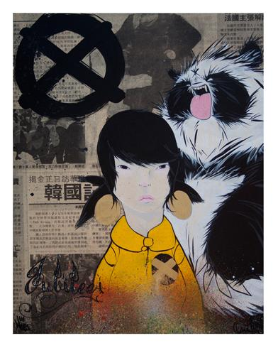 "Silent Stage Gallery - Designer Con Exclusive X-Men ""Jubilee"" Giclee Print by Angry Woebots"