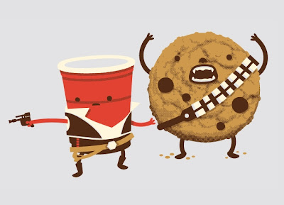 "Threadless - Star Wars T-Shirt ""Hans Off My Cookie!"""