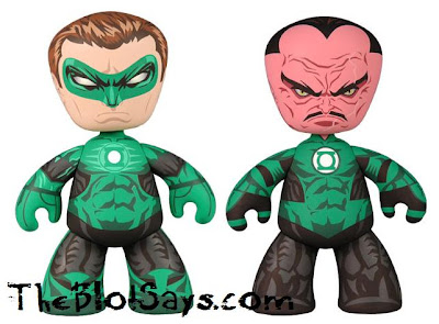 DC Universe Green Lantern Mez-Itz Movie 2 Pack by Mezco Toyz - Green Lantern & Sinestro Vinyl Figures