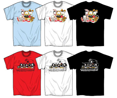 The Hundreds x Garfield Clothing & Accessory Collection - Garfield Group Shot & U.S. Acres Group Shot T-Shirts