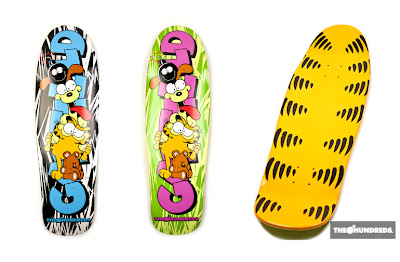 The Hundreds x Garfield Clothing &amp; Accessory Collection - Garfield Skate Decks