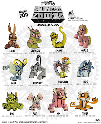Joe Ledbetter's Chinese Zodiac Mini Figure Series
