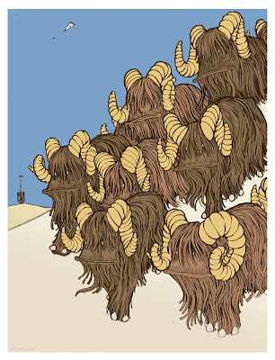 Mondo Star Wars Screen Print Series #17 - Ten Banthas by Jay Ryan