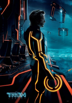 TRON: Legacy Movie Poster Triptych - Jeff Bridges as Clu