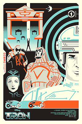 TRON Screen Print by Eric Tan