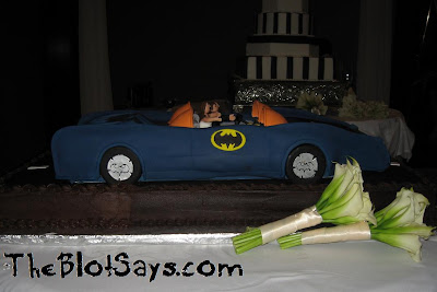 The Blot's Kenner Super Powers Batmobile Groom's Cake