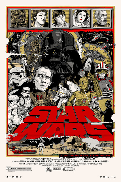 Mondo Star Wars Screen Print Series #20 - The Original Star Wars Trilogy Set by Tyler Stout - Star Wars