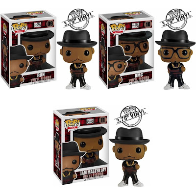 "Run DMC Pop! Rock Vinyl Figures - Reverend Run, Darryl ""DMC"" McDaniels and Jam Master Jay"