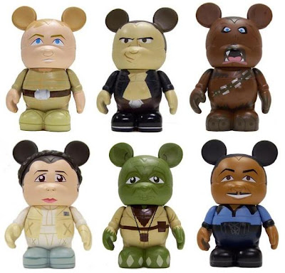 Star Wars Vinylmation Series 1 - Luke Skywalker, Han Solo, Chewbacca, Princess Leia, Yoda & Lando Calrissian