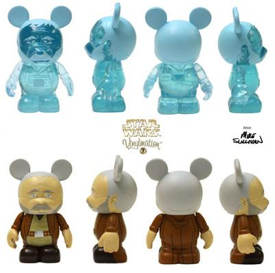 Star Wars Vinylmation Series 1 - Obi-Wan Kenobi Force Ghost Super Chase Vinyl Figure and Obi-Wan Kenobi Mystery Chase Vinyl Figure by Disney
