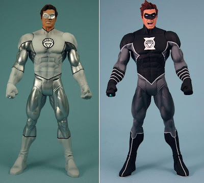 DC Universe Classics Wave 17 Blackest Night Action Figures - White Lantern Hal Jordan & Black Lantern Hal Jordan Variant