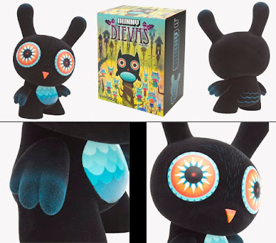 Dievas 8 Inch Dunny and Packaging by Nathan Jurevicius