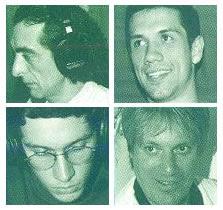 Xekerê : da esquerda superior, no sentido horário: Roberto, Bruno, Andy e Vitor