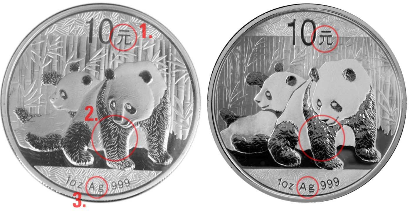 Sha Leayana Gold Life Fake Silver And Gold Panda Version