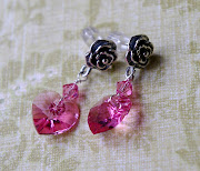 Rose & Heart Silver Drops
