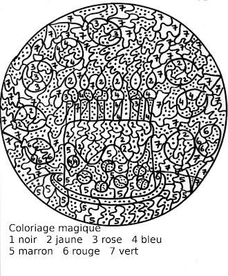 Maternelle coloriage magique g teau d 39 anniversaire - Coloriage gateau anniversaire 5 ans ...