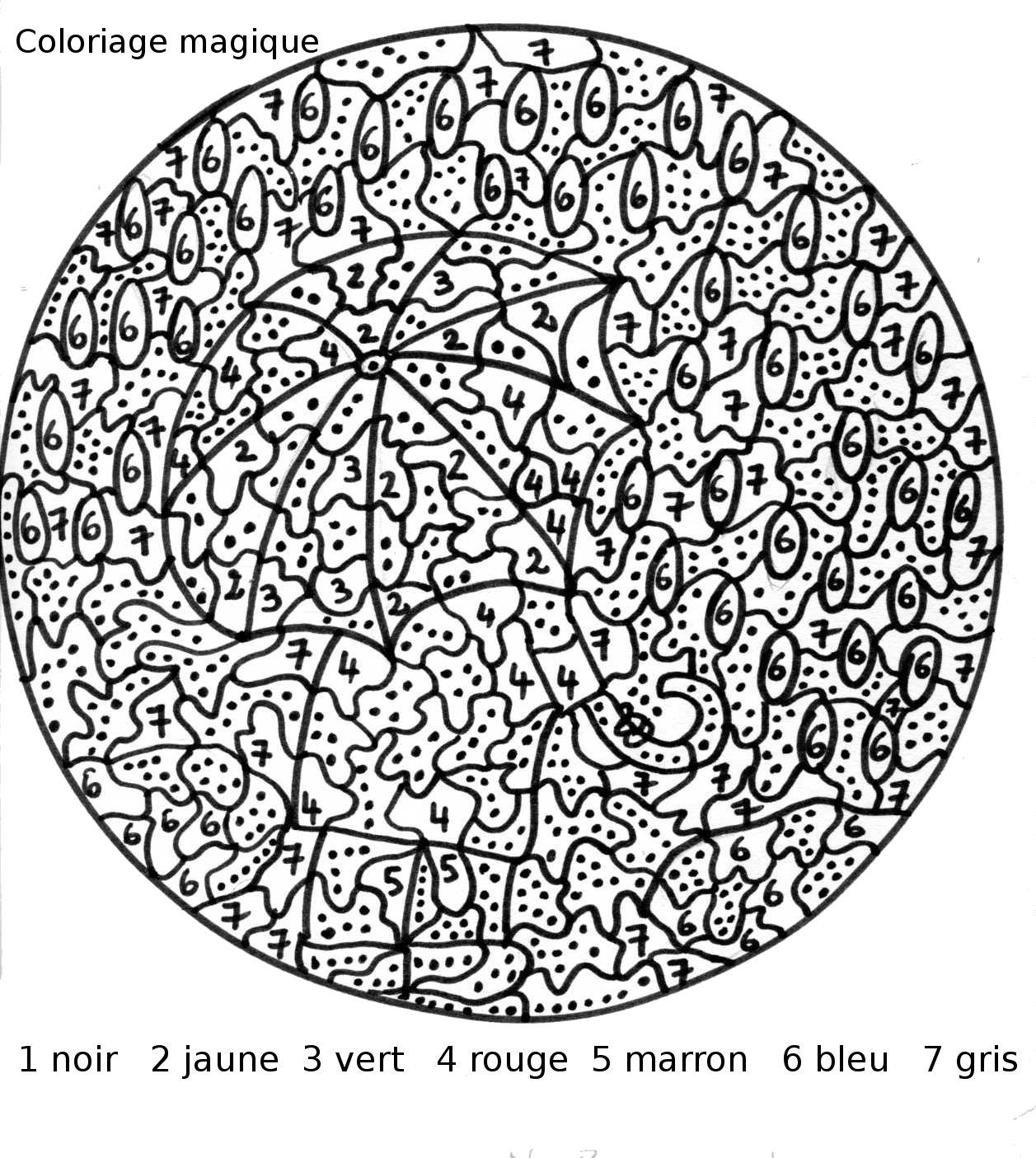 Coloriages magiques, mandalas et autres coloriages ; dessins - Coloriage Magique Numération Cp