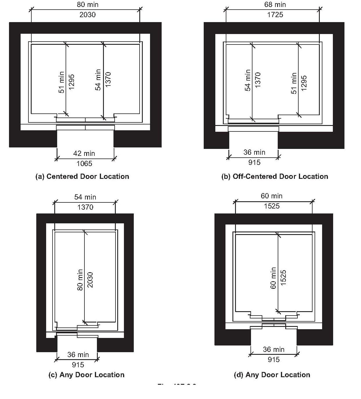 Home elevator dimensions - Ada Elevator Inside Dimensions