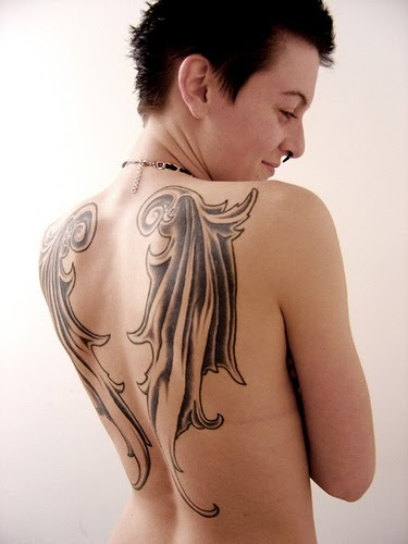 Today 39 s tattoo for Sexy angel tattoo