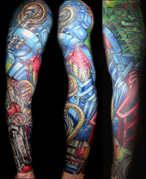 Night Sky Tattoo Sleeve http://tattoobelangaworbodypaint.blogspot.com/2010/02/sleeve-tattoo.html