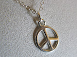 Sterling Silver peace medallion