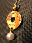 Gold plated reversible pearls of wisdom love quotes