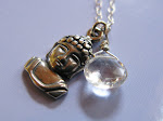 Enlightened necklace. Sterling Buddha and Topaz