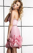 Sexy Short Pink Strapless Prom Dress Item 1374Y