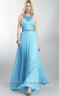 A Sensuous Long Pale Blue Sexy Prom Dress Item No D5073