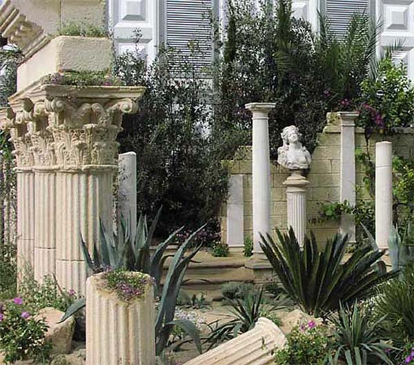 Architectural columns ideas for porches gardens and interior