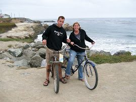 My hubby and I in Santa Cruz-  My fave place to visit!