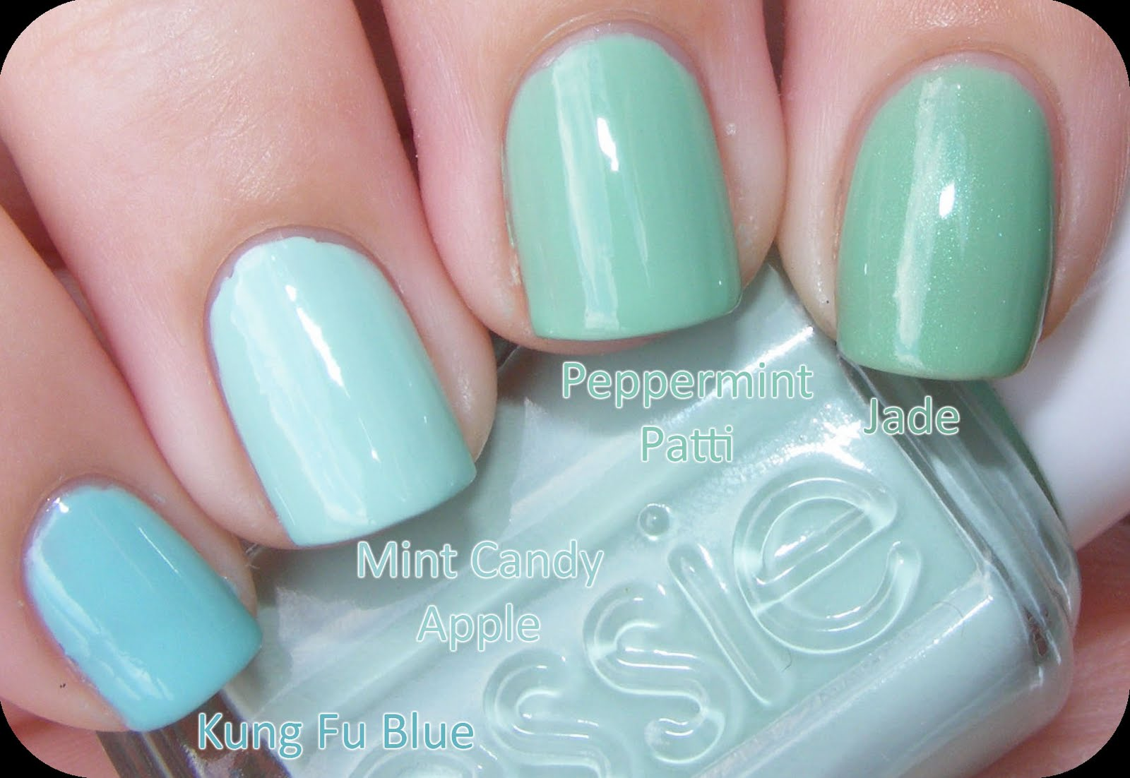 Nail Juice: Mint Green & Deep Purple Comparisons