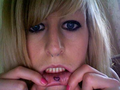 inner lip tattoos. Inner lip tattoo
