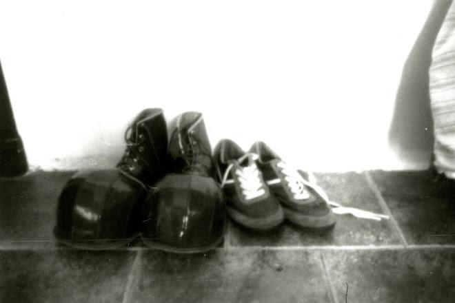 sapatos de palhaço