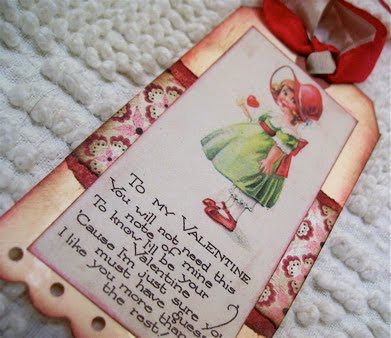 Handmade Valentine tags. More Valentines on DuctTapeAndDenim.com