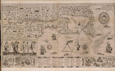 Carte de la Nouvelle France par Samuel de Champlain