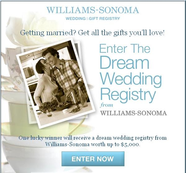 ... In Between: Win Your Dream Wedding Registry from Williams-Sonoma