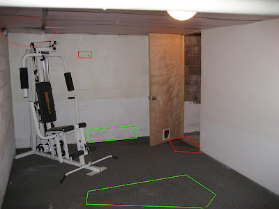 basement gym, basement finishing project