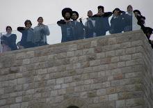 Lens facing up from the Kotel Plaza - Sukkot 2010
