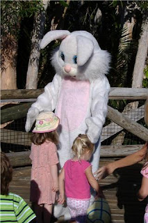 Easter Bunny with Children at the Palm Beach Zoo