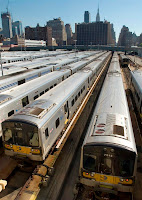 Trenes de LIRR en las cocheras del West Side