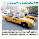 Huelga del Taxi en el diario Metro
