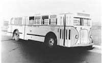 Viejo autobús de Long Island