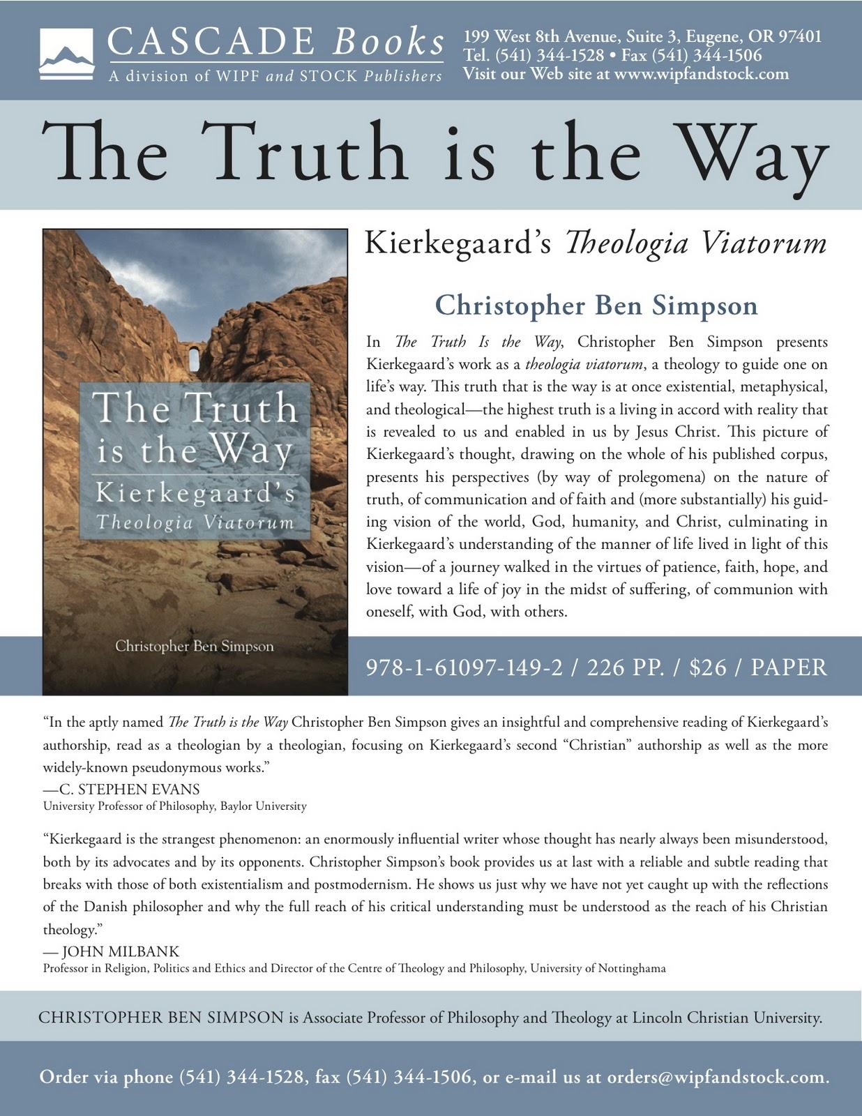 Kierkegaard Simpson%2BFlyer Kierkegaard and a Christian University Professor